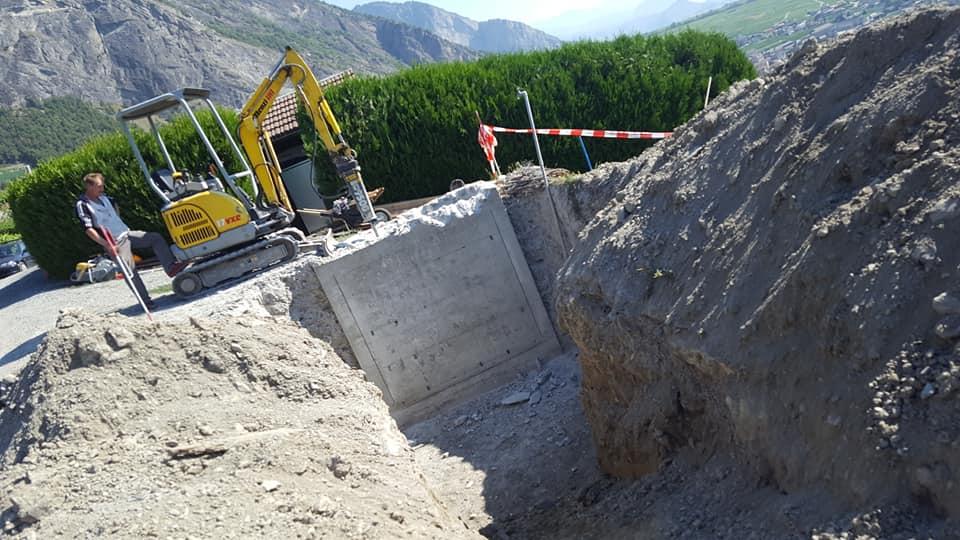 Réfection d'une chambre d'eau potable pour la commune de Leytron
