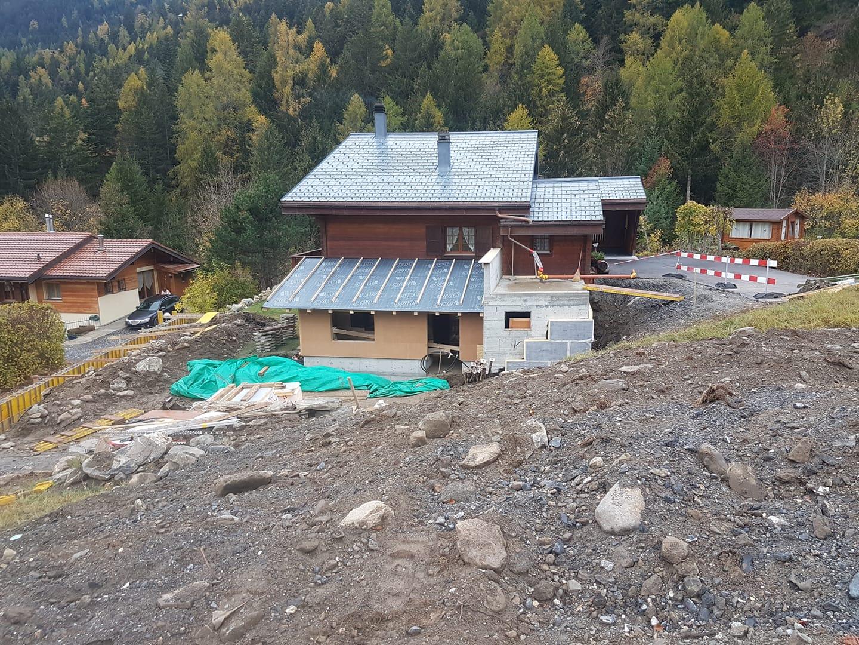 Construction d'une annexe à Ovronnaz