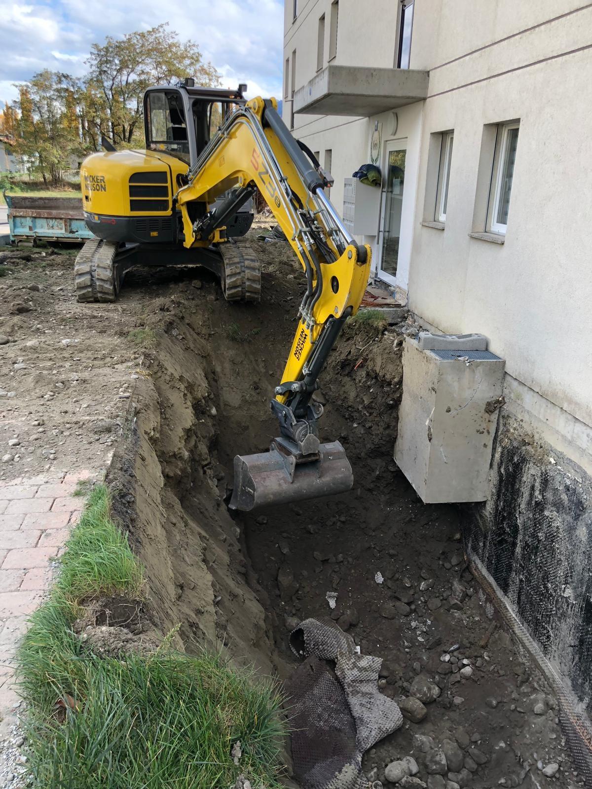 Fouille dégât d'eau à Martigny